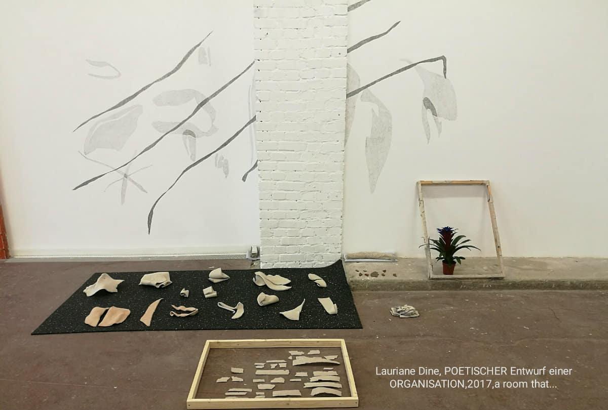 Poetischer Entwurf einer Organisation, 2017, Lauriane Dine, a room that…